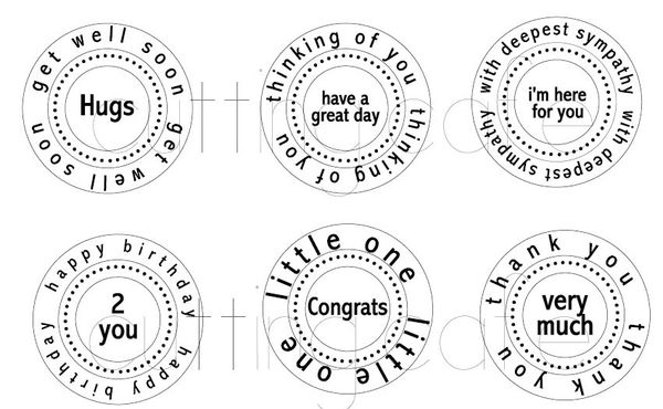 The Cutting Cafe All Occasion Circle Word Set 1