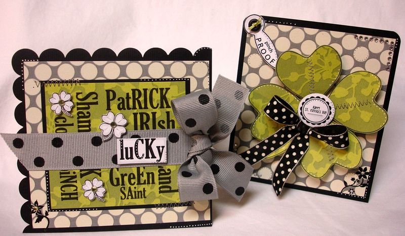St patricks day both cards