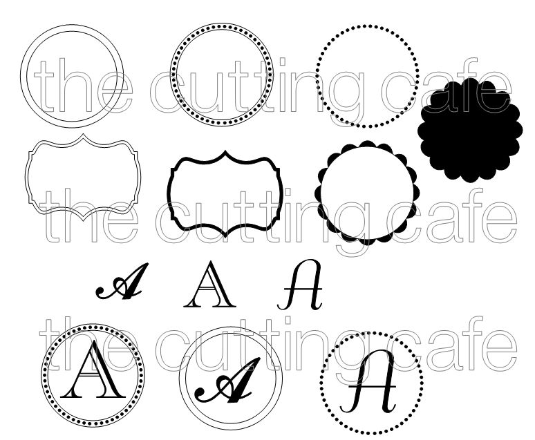 Monogram set