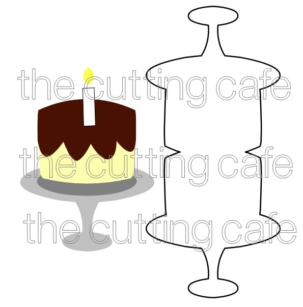 Shaped cards cake