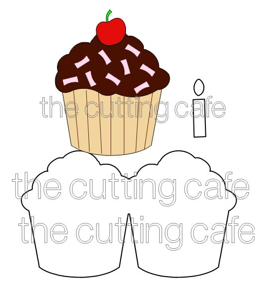 Shaped cards cupcake