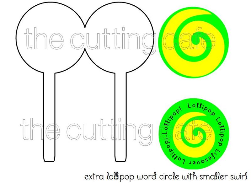 Shaped cards lollipop
