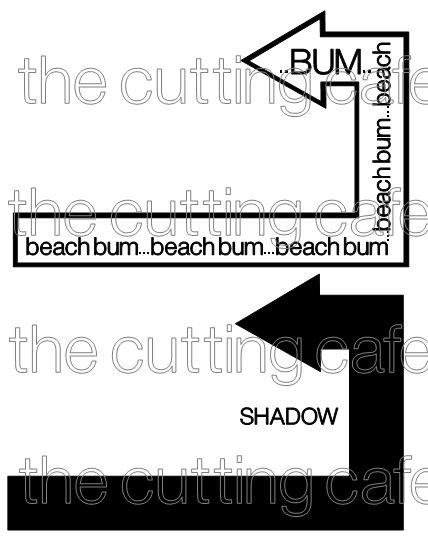 Beach bum big arrow