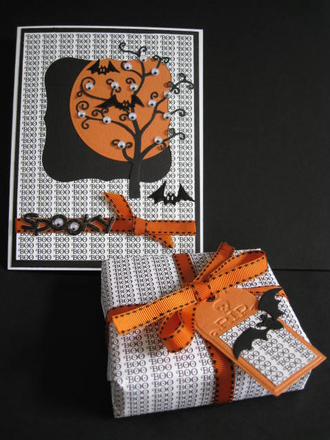 Spooky Tree and Boo gift Donna Mundinger - Boo background stamp
