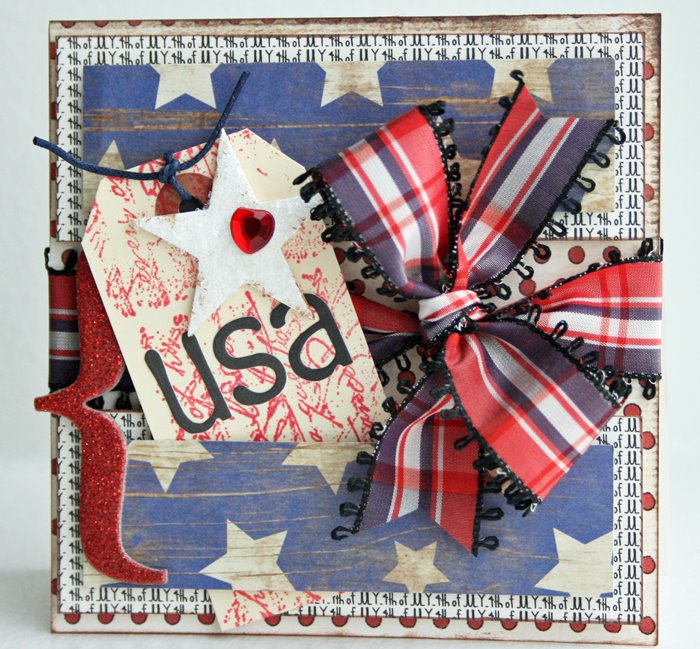 Usa Kay Sibley - 4th of july background stamp