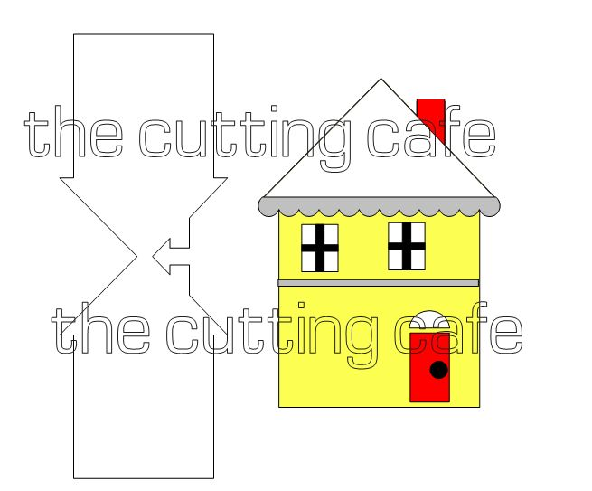 House shaped card