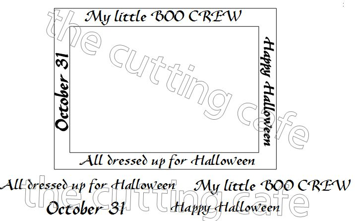 The Cutting Cafe\': BOO CREW 4 BY 6 INCH FRAME PRINTABLE STAMP