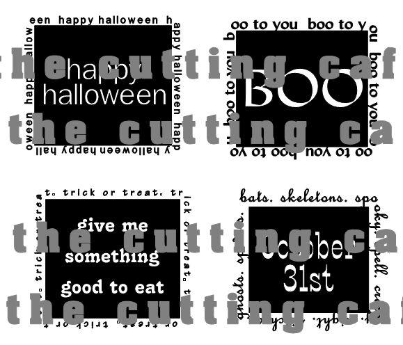Halloween black squares