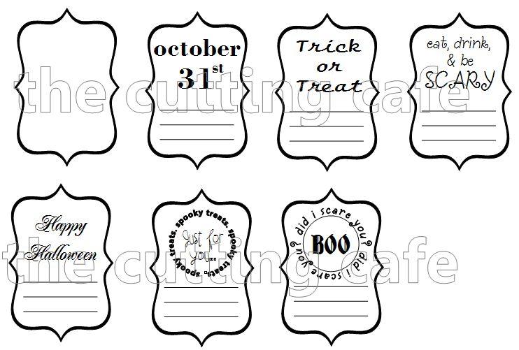 Halloween labels