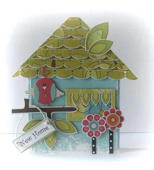 New home Peet Roeven - House shaped card