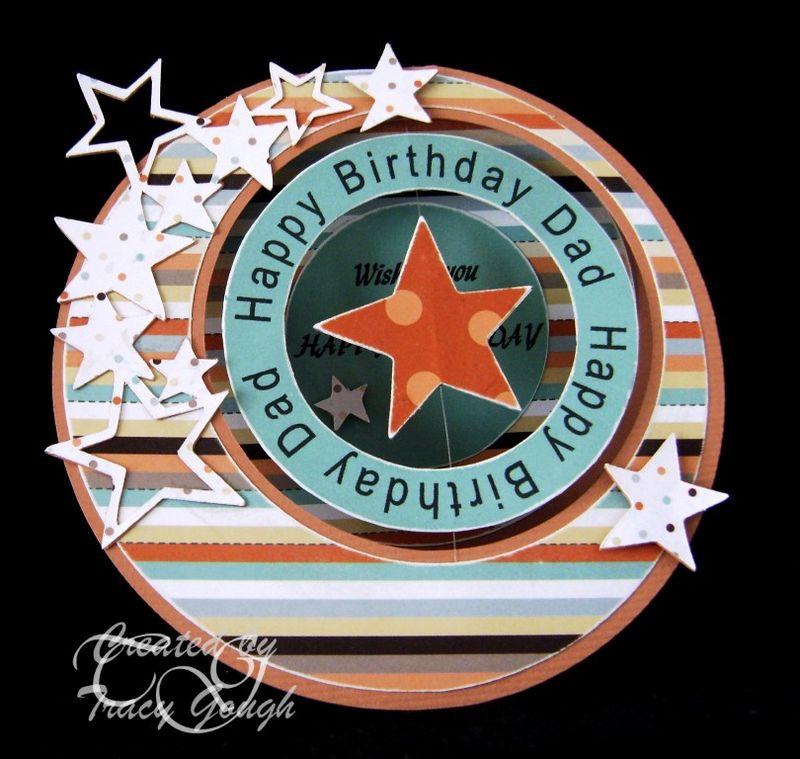 Happy Birthday Dad Tracy Gough - Happy Birthday Dad huge circle