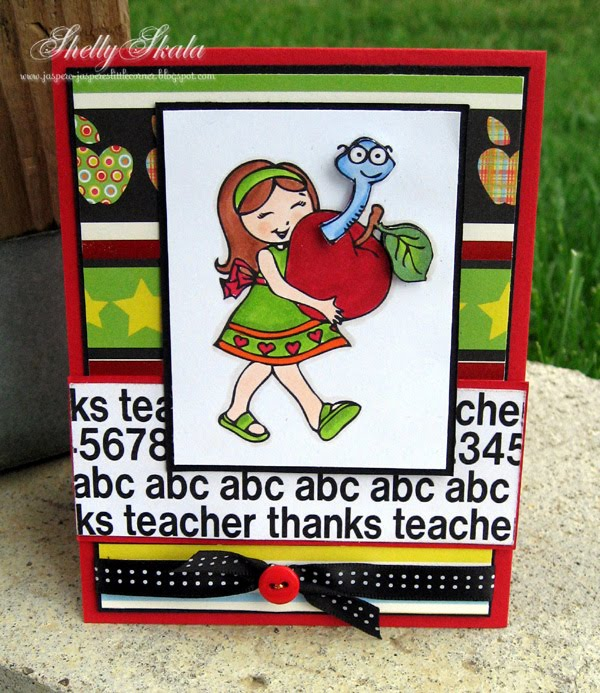 Abc Shelly Skala - thanks teacher abc 123 background stamp
