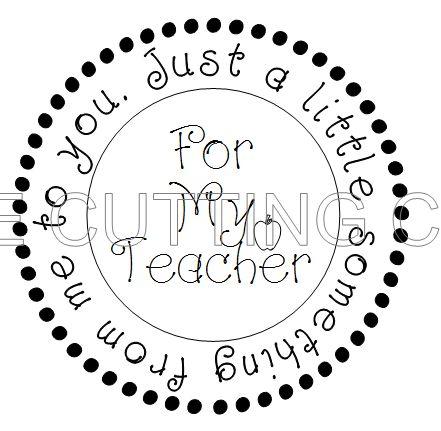 FOR MY TEACHER