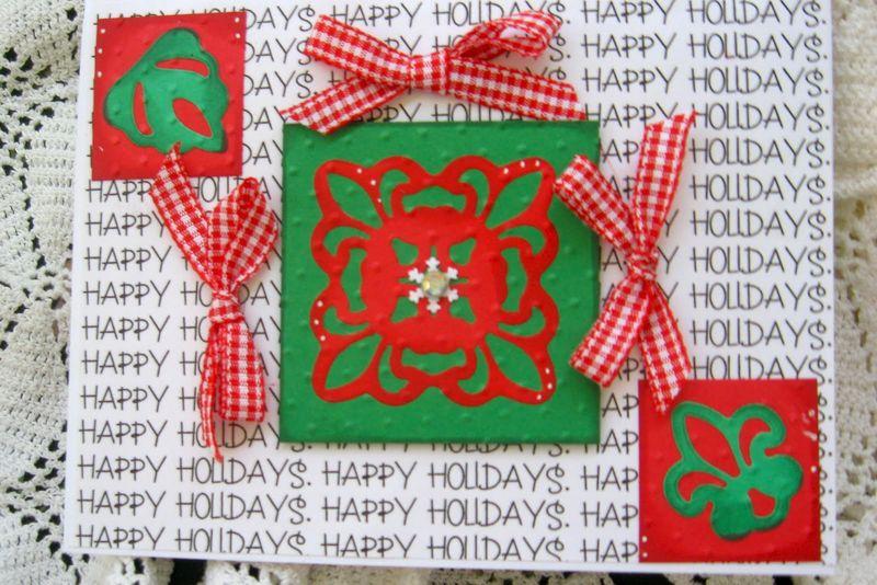 HAPPY HOLIDAYS Carole Lowe Beath - Happy Holidays background stamp