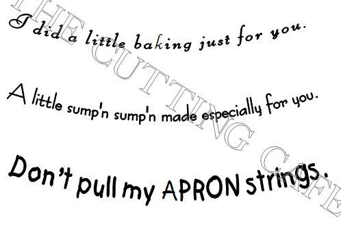 Apron shaped card1A
