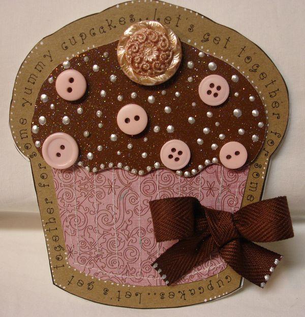 The Cutting Cafe Cupcake Shaped Card Invite Set Template Cutting File