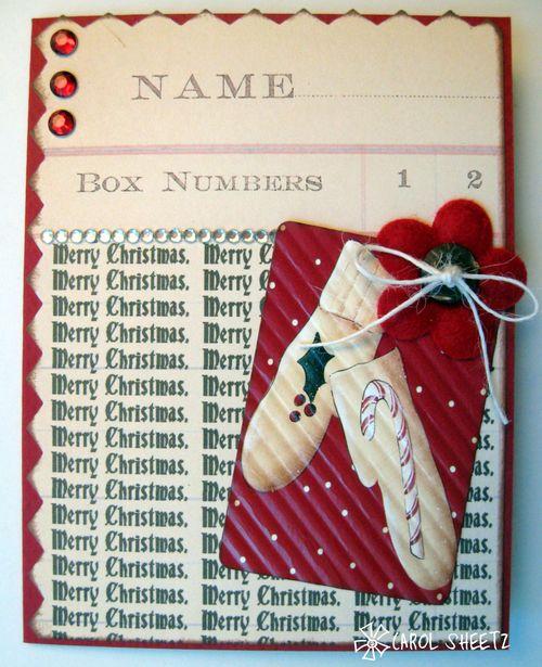 Merry Christmas Carol Sheetz - Merry Christmas background stamp