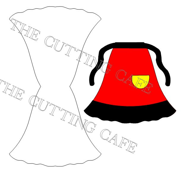 Apron shaped card1