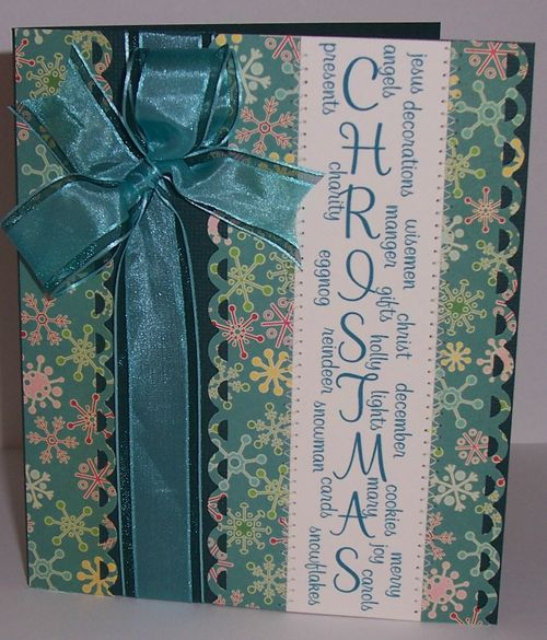 CHRISTMAS Glee Cloninger - Christmas long border