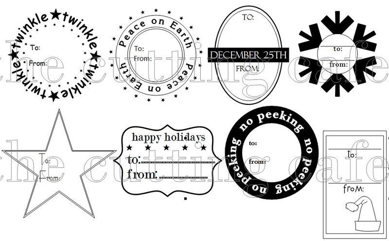 Christmas gift tags 1