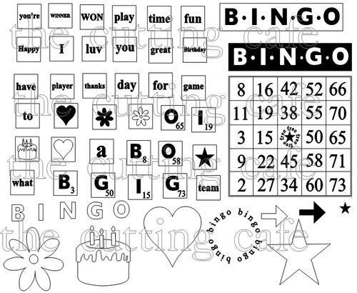 Bingo card set