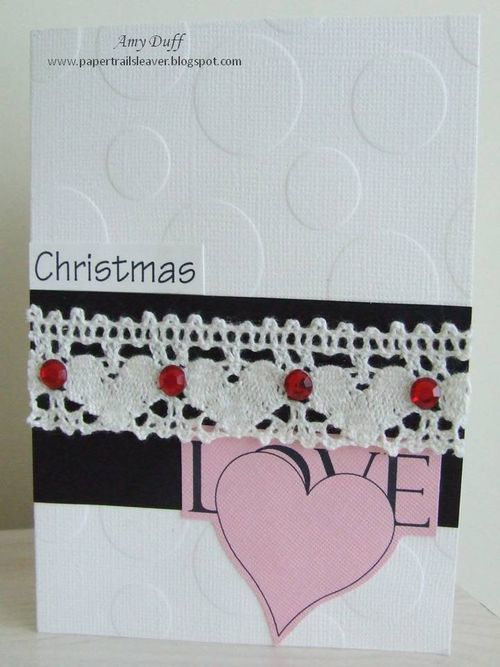 Christma Love Amy Duff - Love hearts background stamp and all about christmas