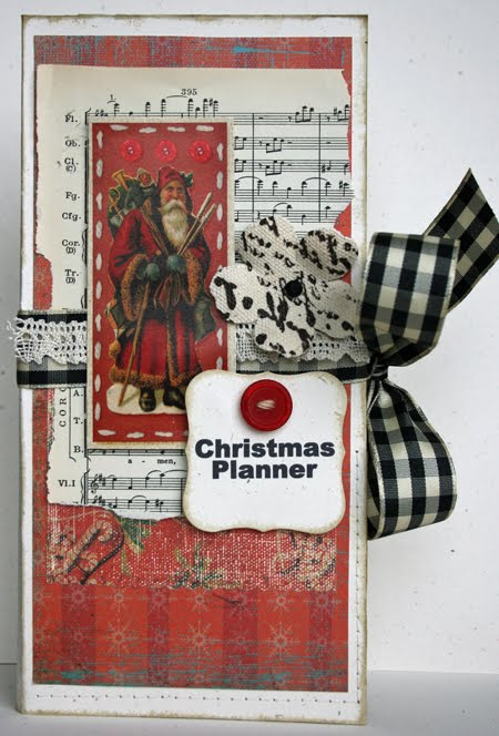 Christmas planner  Kay Sibley - Note book cover, holiday planner set