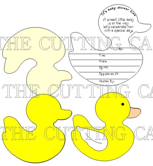 DUCK SHAPED CARD