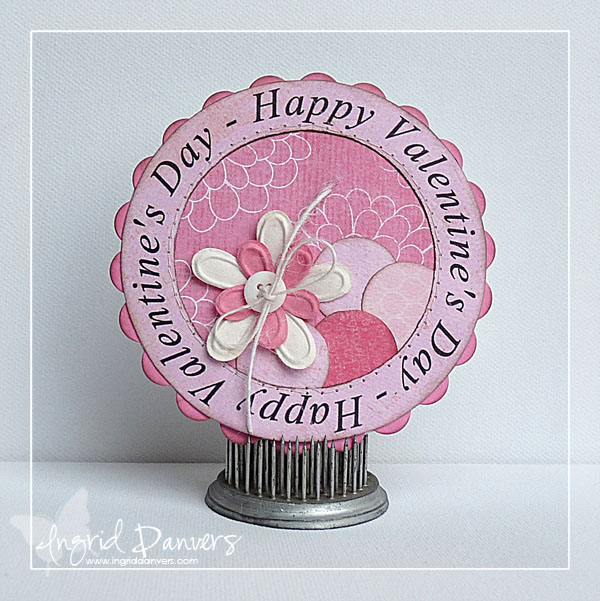 Happy Valentines Day  Ingrid Danvers - Happy Valentines day huge word circle and circle shaped card 2