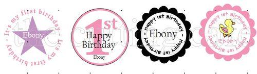 Frist birthday baby girl custom