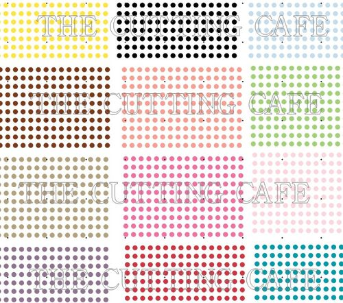 COLORED DOT SET 0F 12