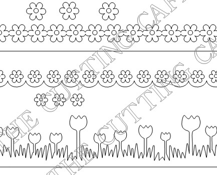 flower borders and frames. This FLOWER BORDER set