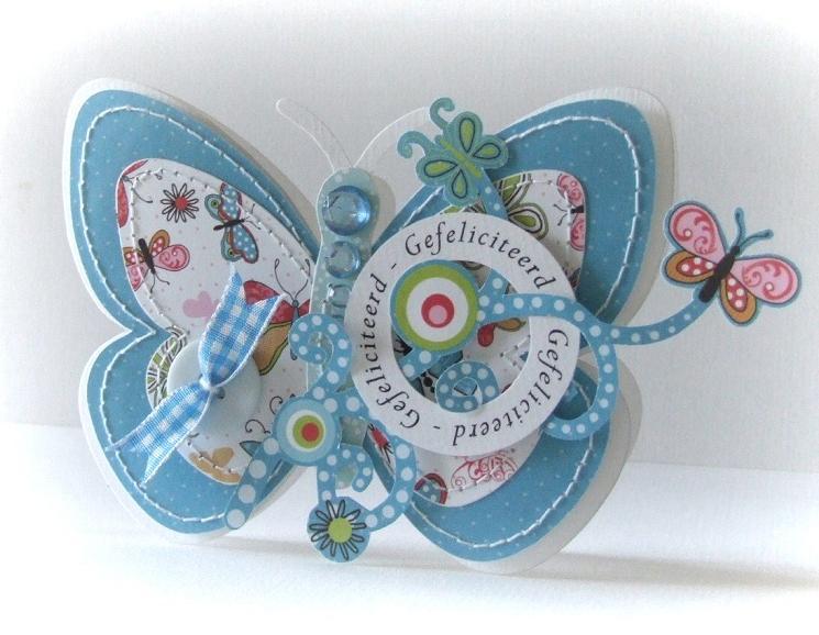 Butterfly shaped card peet