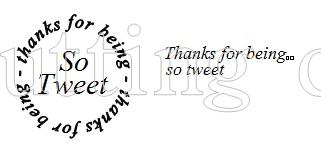 So tweet 1