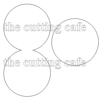 Circle shaped card