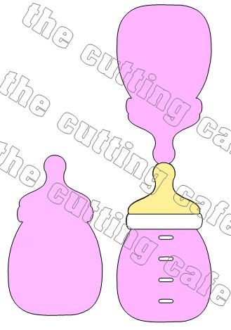 Baby bottle shaped card 1