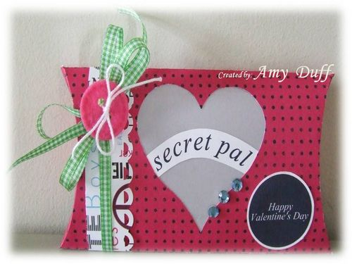 Secret Pal Amy Duff - Pillow box and Because Valentines isn't just for lovers