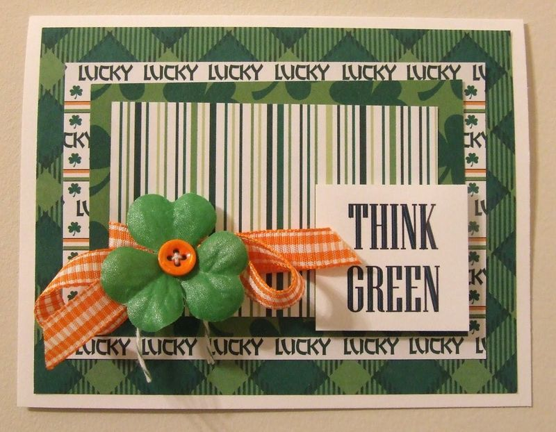 Think Green card by Amy Duff