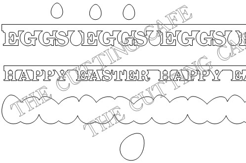 Easter cutting file