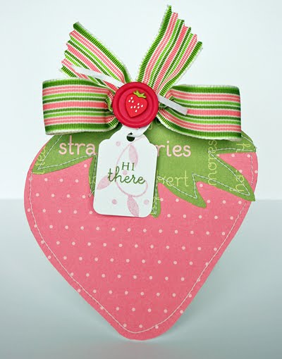 Hi there Kay Sibley - Strawberry shaped card