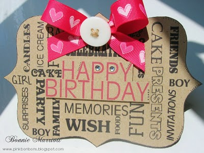 Happy Birthday Frame Word Block
