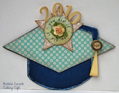 2010 Michele Kovack - graduation hat shaped card