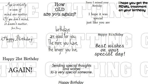 The Cutting Cafe BIRTHDAY GREETINGS INSIDE AND OUTPRINTABLE