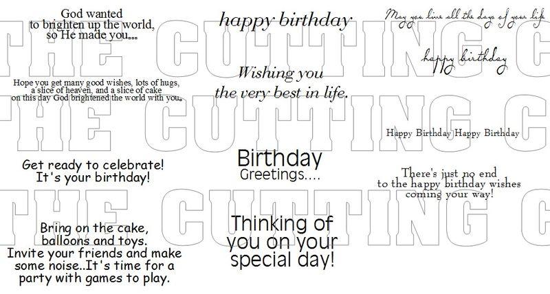 BIRTHDAY SAYINGS 1