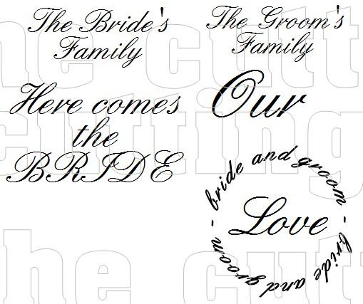 Wedding sentiments
