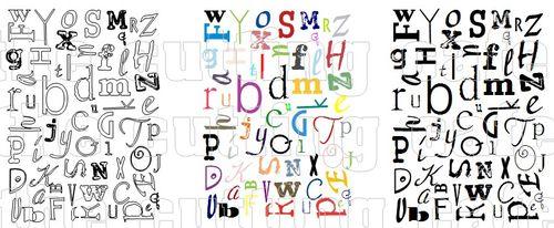 Letters background set