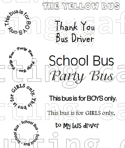 Bus shaped card 1