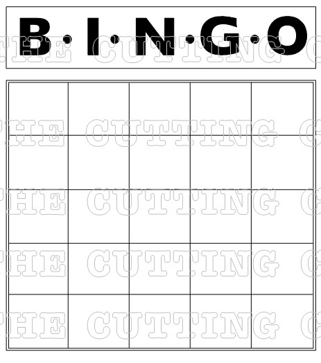 photo about Musical Bingo Cards Printable identify The Slicing Restaurant: BLANK BINGO CARD PRINTABLE STAMP Preset