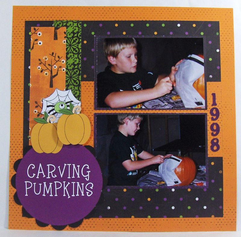 Carving Pumpkins  Brenda Rose - Halloween day colored sentiments and Halloween mini colored set