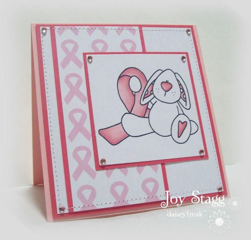 Awareness  Joy Stagg - Ribbon background pink